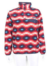 Patagonia Synchilla Snap T Fleece Pullover Womens XS Red Wild Desert Aztec