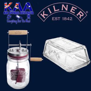 Kilner Butter Dish 71mm X 99mm & Kilner Butter Churner 1Ltr Combo