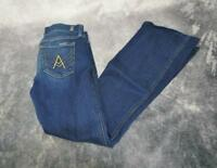 7 For All Mankind Womens Short Inseam A Pocket Jeans Medium Wash Size 29 Blue