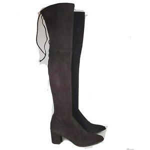Stuart Weitzman women boots Thighland Brown Cole suede Over The Knee OTK sz 9 M