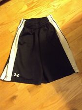 Under Armour Men's Basketball Shorts Small - Black loose fit black white trim