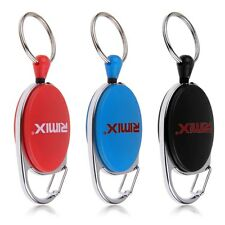 Heavy Duty Recoil Retractable Key Ring Pull Chain Belt Clip ID Card Holder  Pass