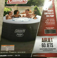 New Coleman Saluspa Inflatable Hot Tub Havana & Remote controlled Spa Pump 71x26