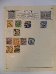 PA 419 - Page Of Mixed China Stamps