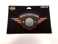 Genuina Harley Davidson Skull Emblema Parche EM093303