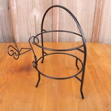 Buffet Table Organizer Rack for Plates Utensils Black Metal