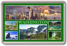 FRIDGE MAGNET - WASHINGTON STATE - Large - USA America TOURIST