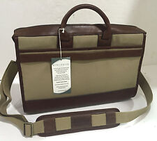 New KORCHMAR Z3223 Sawyer Duck Canvas Leather Messenger Bag Briefcase $325
