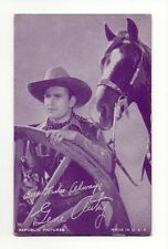 Gene Autrey 1940's Salutations Cowboy Purple Exhibit Arcade Card
