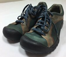 Keen Shoes Women's 7.5 US 38 EU Green Brown Leather Hiking Walking Lace Up Trail