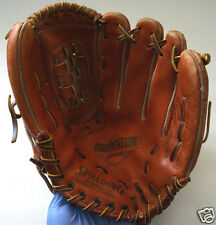 "Vintage Spalding LLOYD MOSEBY Right Handed Genuine Leather 11"" Baseball Glove"