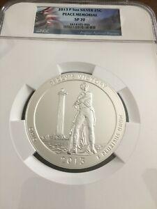 2013-P Peace Memorial  ATB 5 Oz Silver Coin NGC SP70