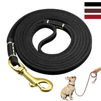 Thin Leather Dog Lead Show Slip Lead Walking Leash for Small Dog Red Brown Black