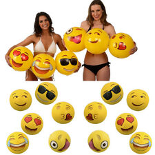 Beach Ball Emoji Inflatable Toy Sport Outdoor Water Fun Summer 6 Pack Size12 #RF