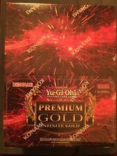 Yugioh Premium Gold Infinite Gold Sealed Box of 5 packs.