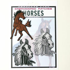 HORSES Set of 3 Horse Patches - Iron-On Patch Super Set #090 - FREE POSTAGE!