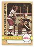 1972-73 O-Pee-Chee #63 Playoff Game 6 Boston Bruins / New York Rangers