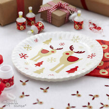 ROCKING RUDOLPH Luxury Christmas Paper Plates - Xmas Party - FULL RANGE IN SHOP!