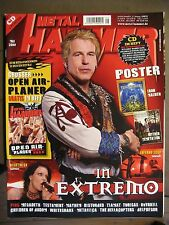 METAL HAMMER 2008 MAI - IN EXTREMO NIGHTWISH MEGADETH TESTAMENT  INCL. POSTER