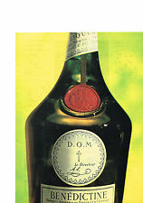 PUBLICITE ADVERTISING  1962   BENEDICTINE    liqueur