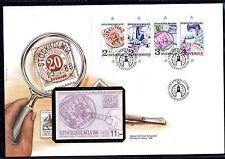 Schweden MH 111 FDC Internationale Briefmarkenausstellung STOCKHOLMIA