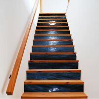 13PCS/set 3D Moonlight at Sea Stair Stickers Waterproof Murals Self-adhesive