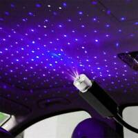 Car Atmosphere Lamp Interior Ambient Star Light LED USB Projector Starry Sky UK