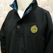 Spruce Meadows Canada Windbreaker Pullover Mens S Navy Blue Crest Equestrian