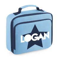 Personalised Childs Lunch Cooler Bag Boys Kids Insulated School Dinner Box LB7