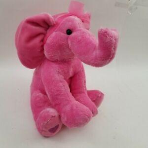"APPLAUSE PINK PLUSH  ELEPHANT 10"" STUFFED ANIMAL"