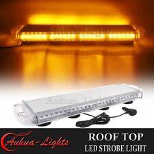 "28"" 60W LED Emergency Beacon Warn Flash Strobe Tow Truck Rooftop Amber Light Bar"