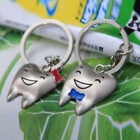 Day Cute Pendant Key Ring Tooth Shaped Key Fob Key Chain Couple's Key Chain