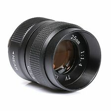 25mm F/1.4 Television TV Lens/CCT Lens for C Mount camera in Black