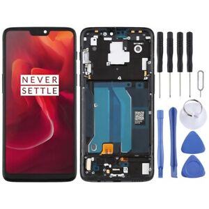 For OnePlus 6 A6000 TFT Screen Touch Digitizer Assembly With Frame BLACK
