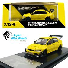 Cm-Model 1:64 Mitsubishi Lancer Evolution Ix Widebody (Yellow) Diecast Model