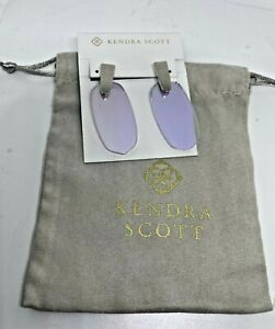 NWT Kendra Scott Aragon Silver Drop Earrings in Dichroic Glass MSRP $80