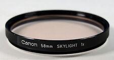 Canon  58E Skylight Filter / Filtro / Filtre 1x - 203216