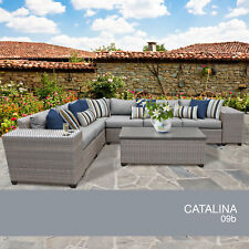 Catalina 9 Piece Outdoor Wicker Patio Furniture Set 09b