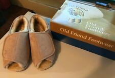 Old Friend Men's Step In Sheepskin Slippers US Size Lg 10.5-11.5 Chestnut Suede