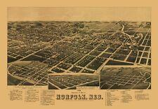 Norfolk Nebraska - American Pub Co 1889 - 23.00 x 33.16