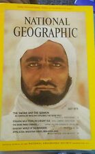 July 1972 National Geographic WITH MAP Middle East Arab World, Paris.  MINT!