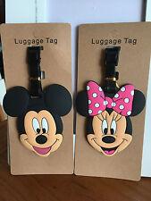 2pcs disney Mickey minnie silica gel luggage tags Baggage travel tags