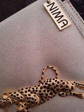 Vintage Nima Gold Leopard Handbag Crossbody Shoulder Bag Purse Gold