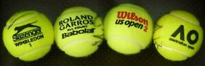 RAFAEL NADAL AUTOGRAPHED SET OF 4 GRAND SLAM BALLS-US-AUSSIE-FRENCH-WIMBLEDON