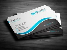 100 CUSTOMIZED BUSINESS CARDS ONE SIDED PRINTING  FREE DESIGN