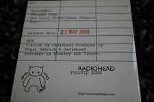 RADIOHEAD PYRAMID SONG PROMOTIONAL ONLY AMNESIAC 03 2001