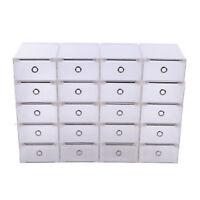 20X Schuhkarton Aufbewahrungsbox Stapelbox Schuhbox Schuhaufbewahrung