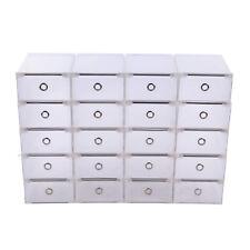 20x Aufbewahrungsbox Stapelbox Schuhbox Schuhkarton Box Allzweckbox Schublade