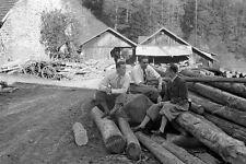 Negativ-Schwarzwald-Sägewerk-Triberg-Gutach-Murgtal-1930er-Jahre-1930s-1