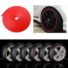 RIMBLADE Car Alloy Wheel Rim Protectors Tire Guard Line Rubber Moulding Red